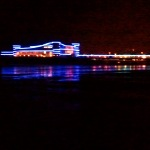 weston pier at night