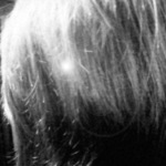 b/w messy shot of hair